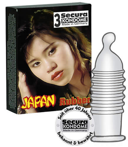 Image of   Secura Japan Rubber 3 stk
