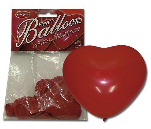 Hjerte Luftballoner 6 stk