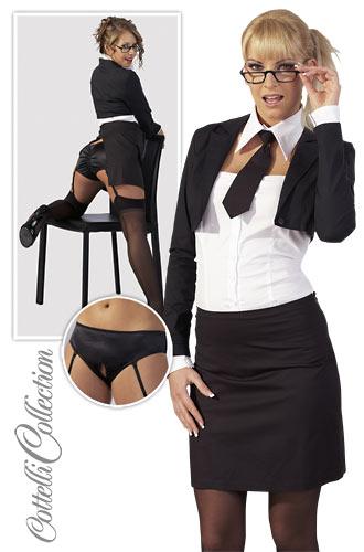 Sekretær sæt sort og hvid Medium