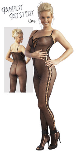 Image of   Catsuit med Ophidsende transparens Small/Medium