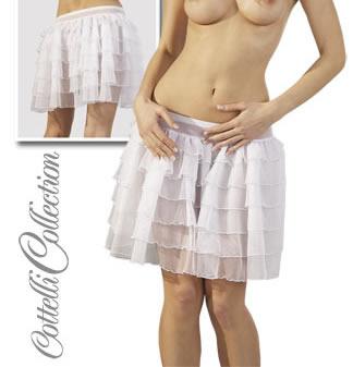 Petticoat strutskørte i hvid ( minikjole ) X-Large