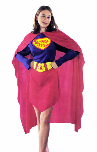 Image of   Super Hero - Superwoman Kostume S-L