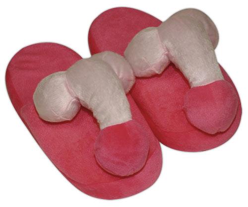 Plys Hjemmesko Penis - Pink