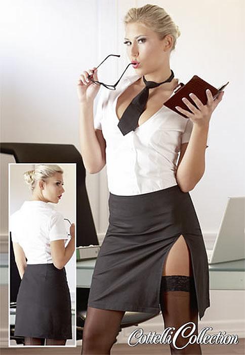 Frækt Sekretær Kostume Small