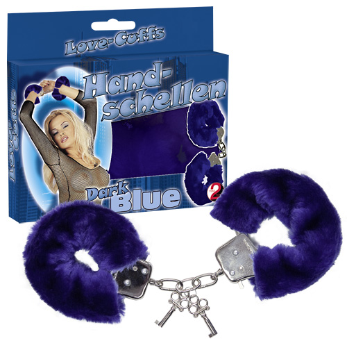 Love Cuffs - plys håndjern - Blå