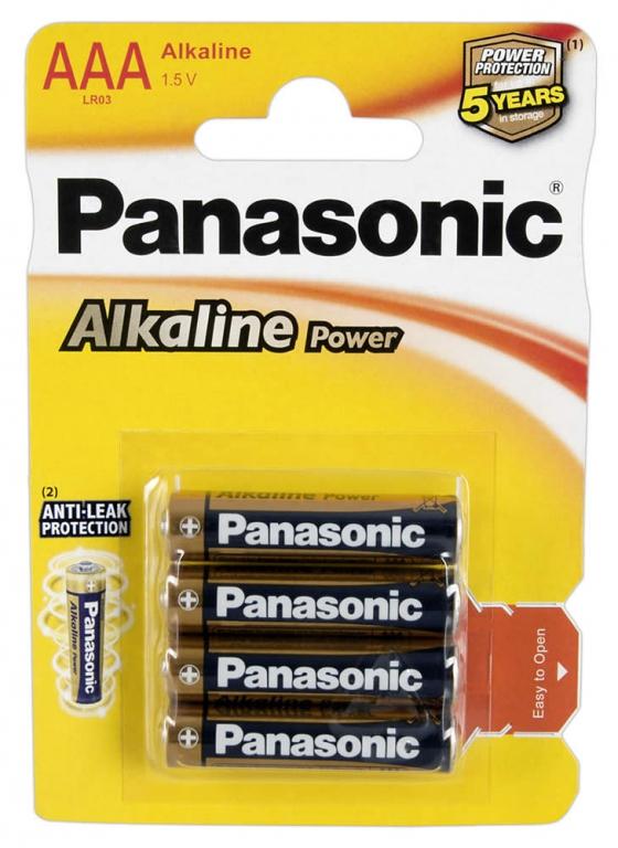 Panasonic AAA Alkaline Micro Battrier 4 stk
