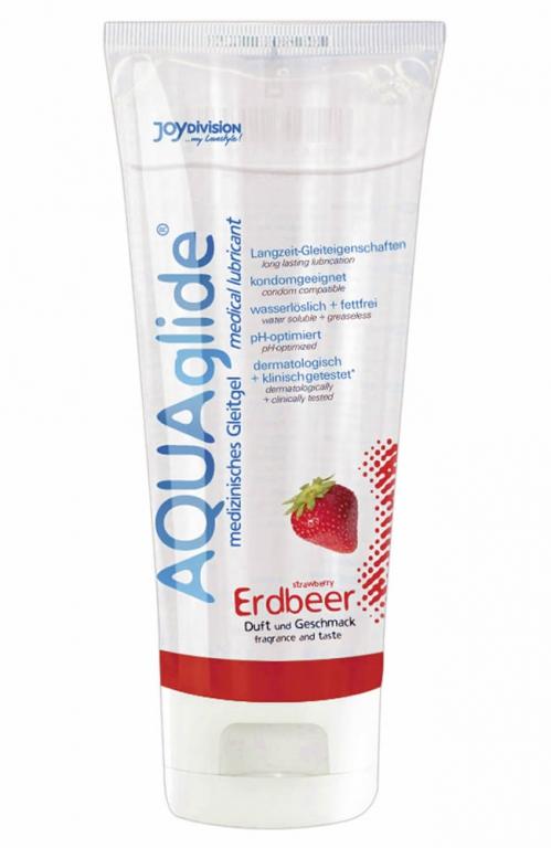 Image of   AQUAglide Glidecreme med Jordbær Duft - 100 ml